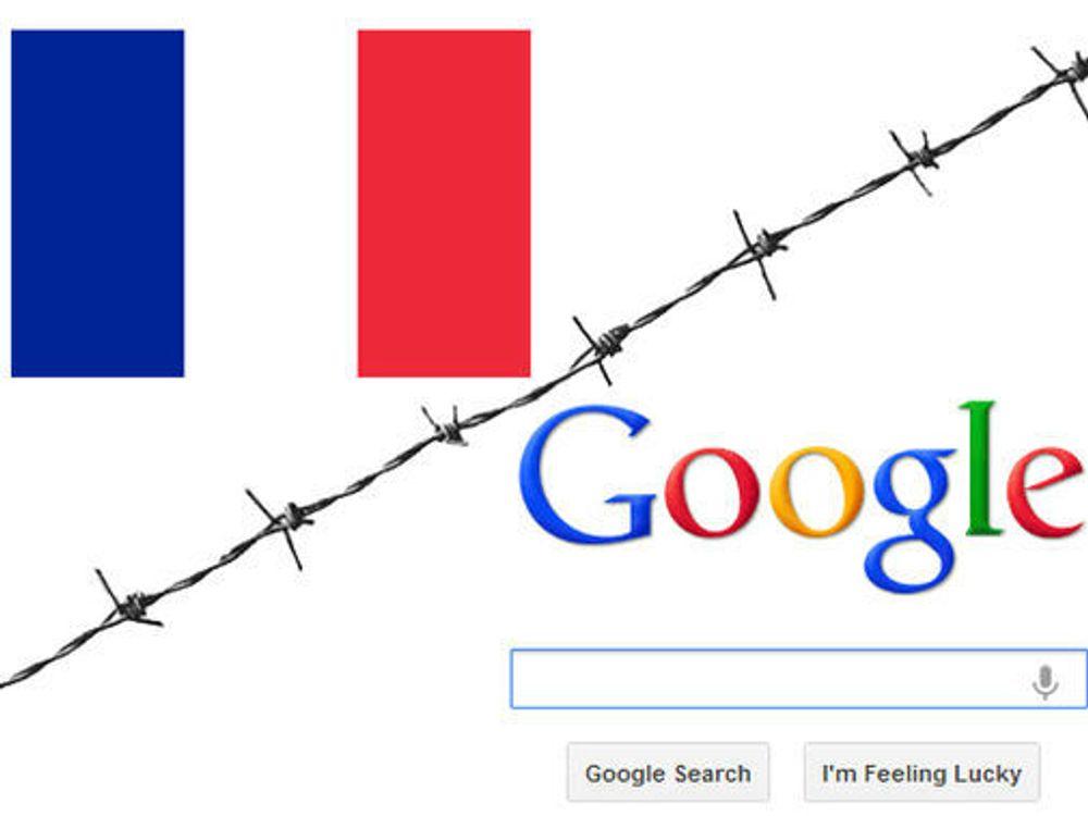 Google truer med å boikotte franske aviser