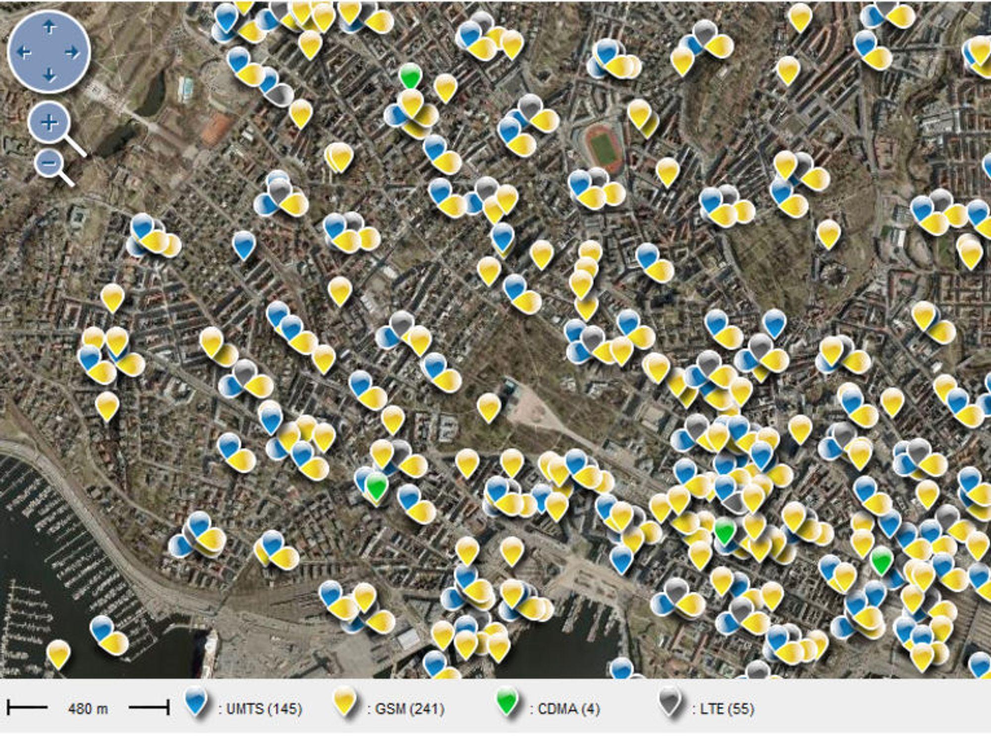 mobilmaster kart Her er 4G antennene   Digi.no mobilmaster kart