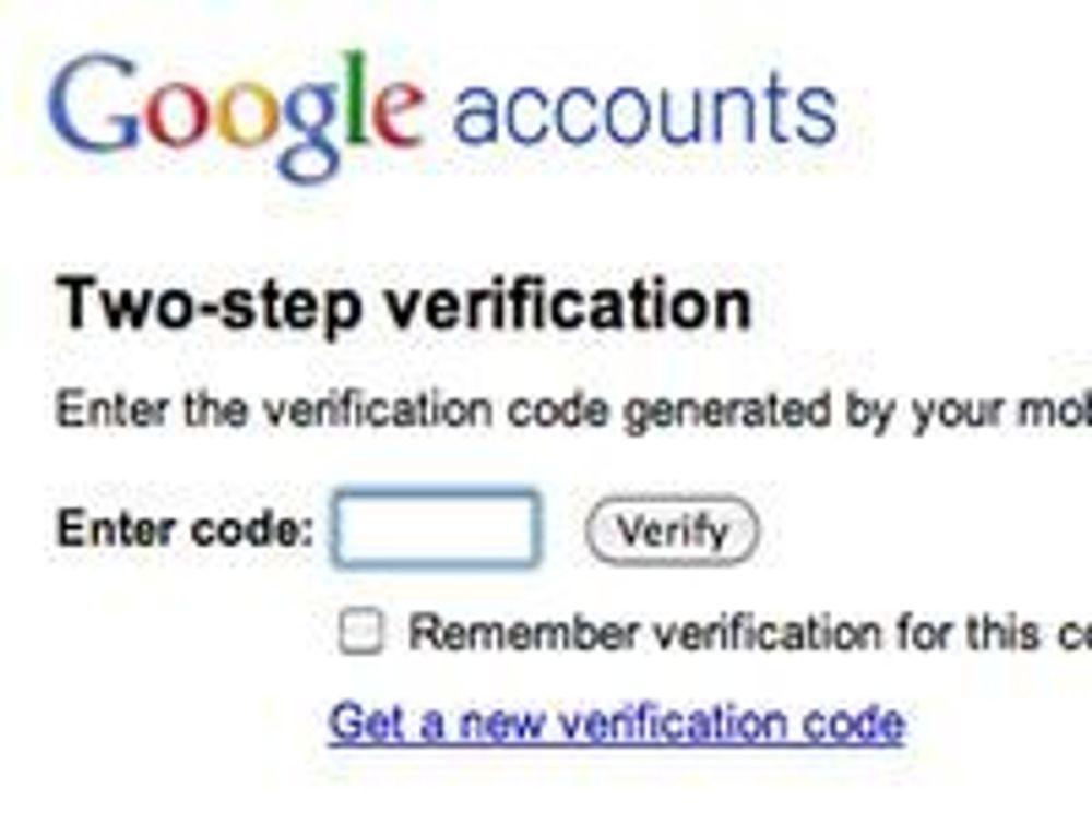 To-trinns Google-innlogging