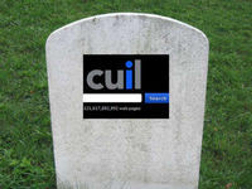 Takk og farvel til Cuil