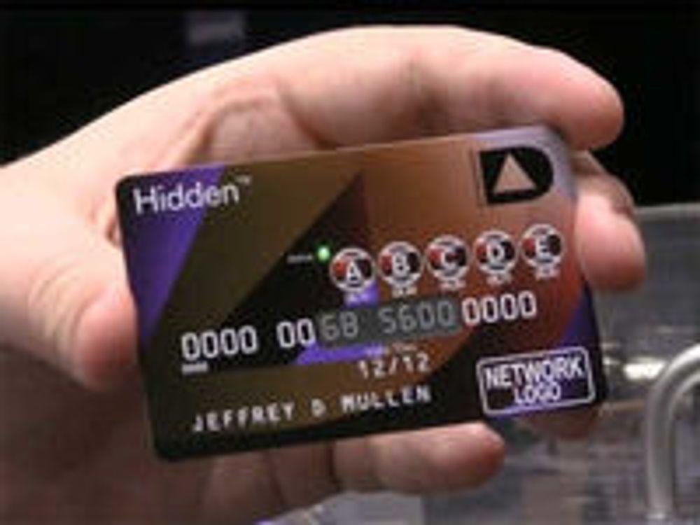 Bankkort med knapper og skjerm