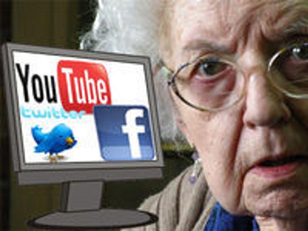 Eldre stadig mer sosiale på nett