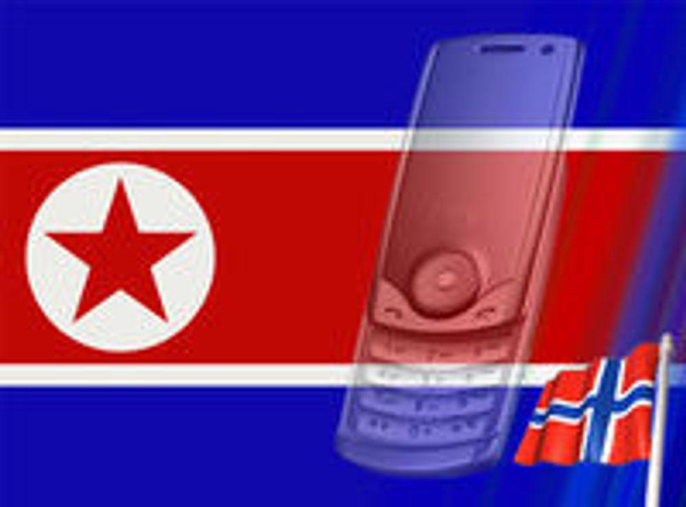Går inn i nord-koreansk mobil