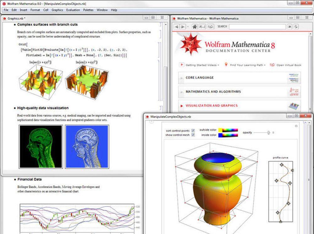 Interaktiv visualisering av funksjonsdata i Mathematica 8.