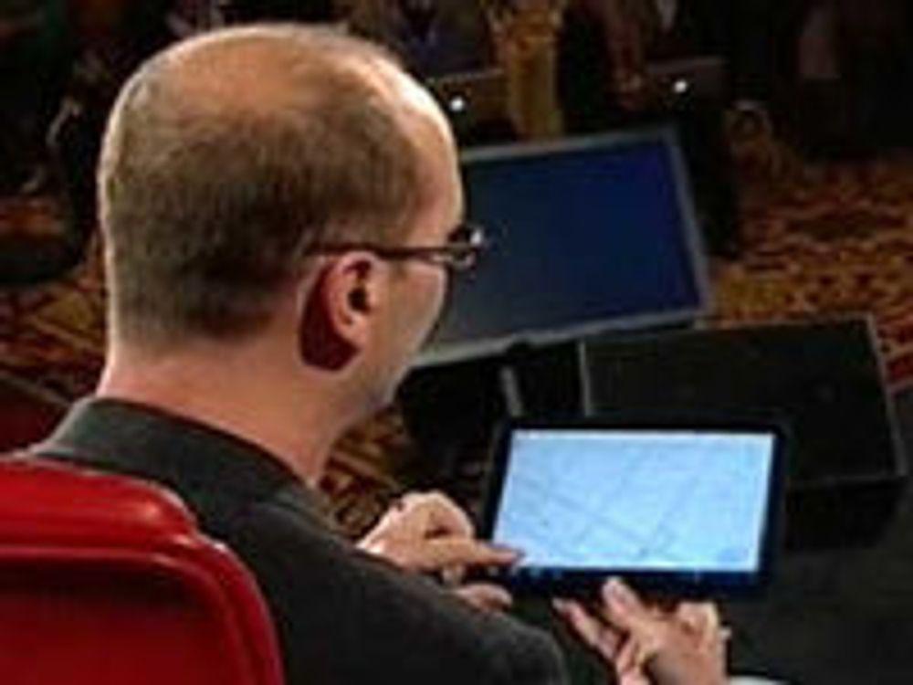 """Andy Rubin viser fram Motorola-tabletprotyp med """"Honeycomb""""-utgaven av Android"""