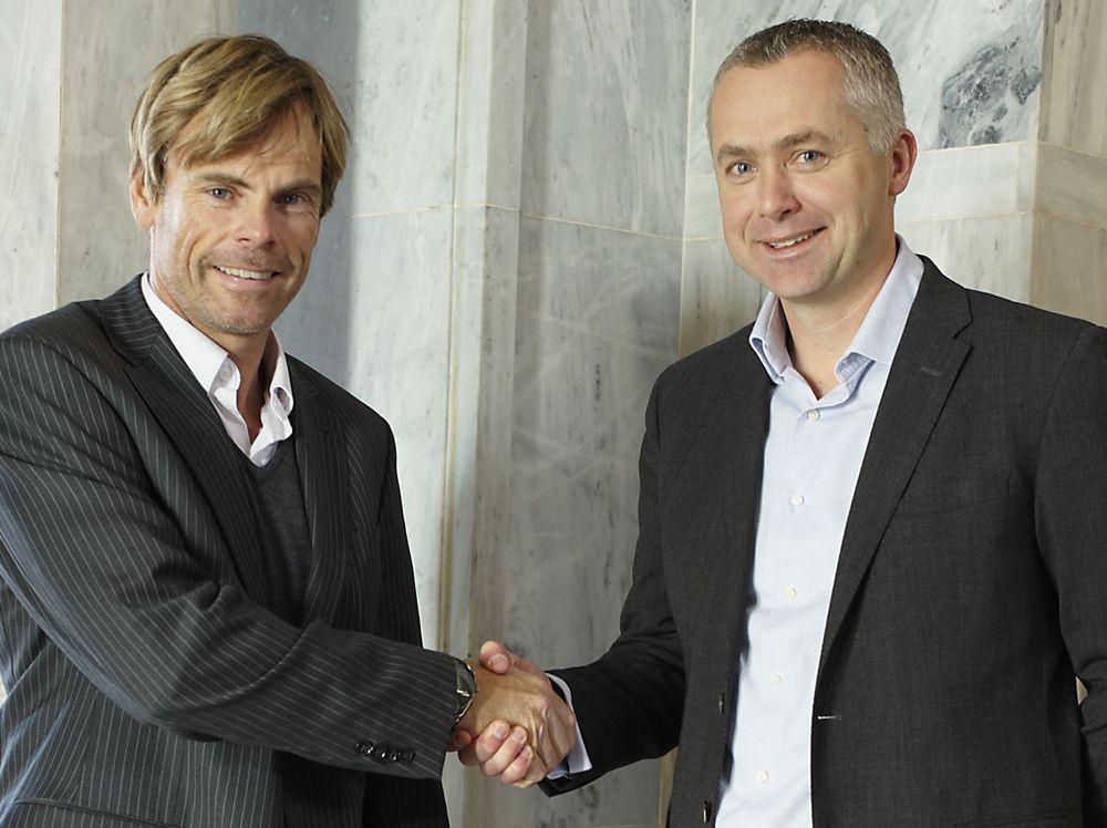 Rune Syversen i Crayon (tv) og Jarl Øverby i Inmeta håper at fusjonen kan være operativ ved mars-april 2011.