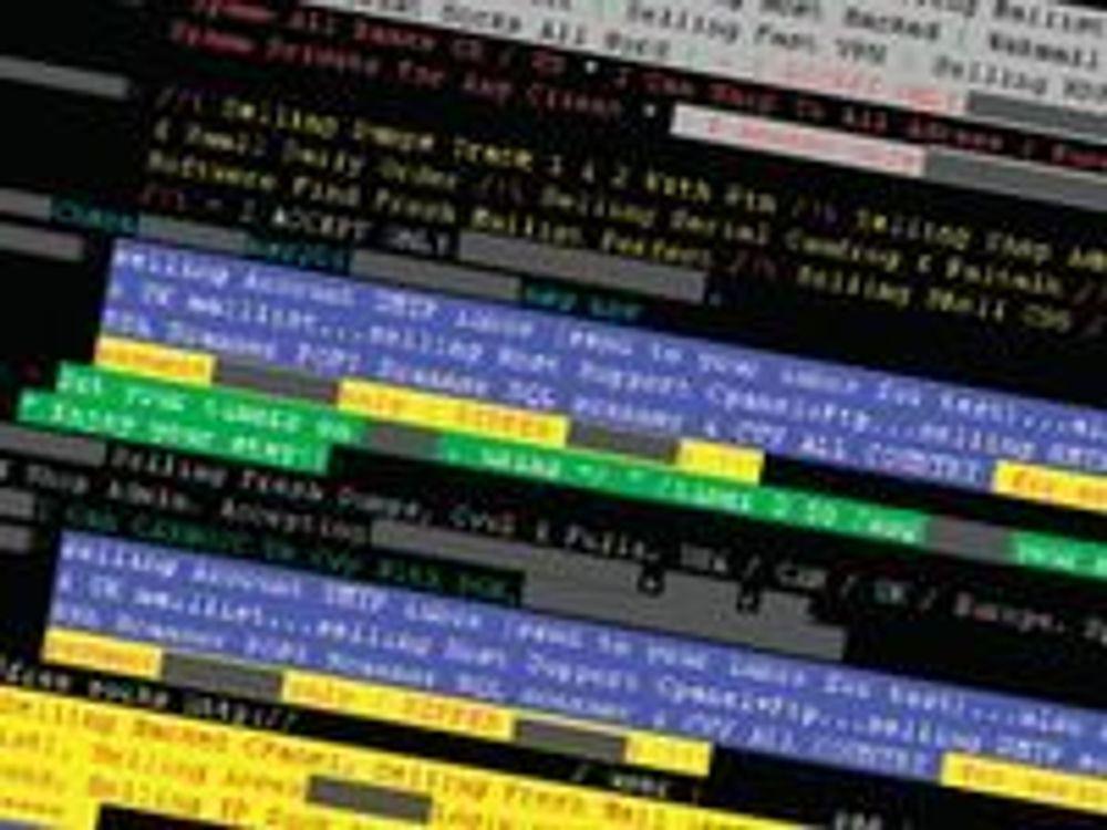 Kriminelle kjøper og selger tjenester og programvare på pratekanaler som IRC,  (Internet Relay Chat). (Foto: Symantec)