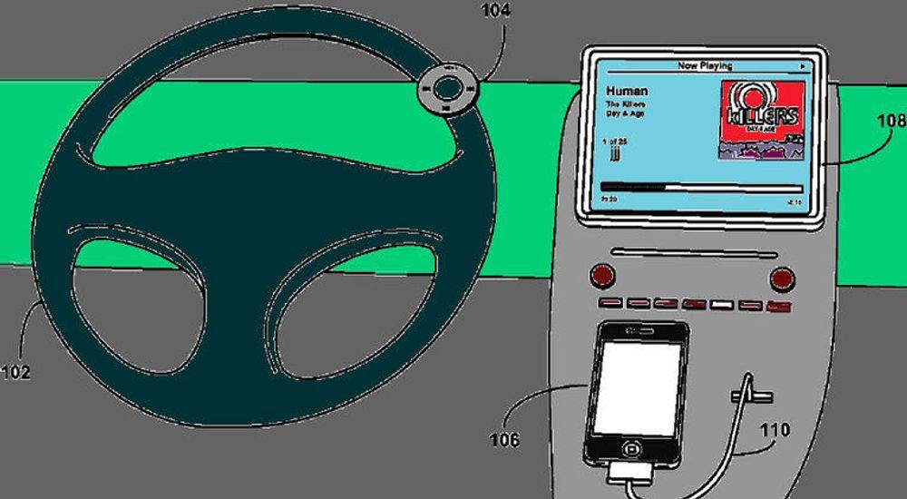 Apple fikk i mai innvilget et patent på en trådløs fjernkontroll for styring av flyttbare mediespillere. Fjernkontrollen har klemmer under for festing til rattet. Eyes Free-knappen som Apple nå snakker om er sannsynligvis integrert på en bedre måte.