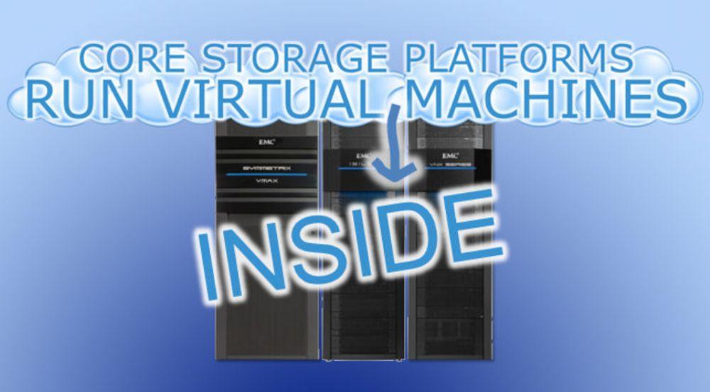 Framtidsvyen til EMC: Data er det sentrale, servere kan nøye seg med virtuelle ressurser i selve lagringssystemet.