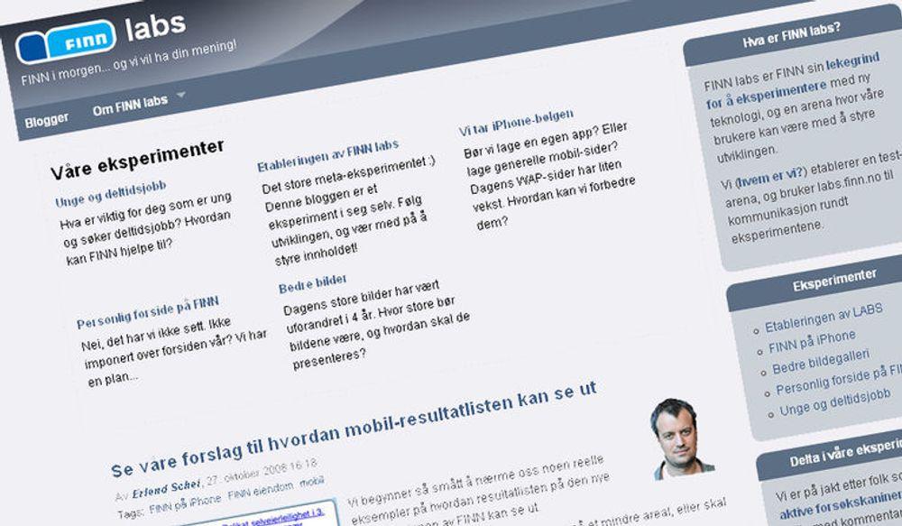 Finn satser på kommunikasjon med sine 4 millioner brukere gjennom en bedriftsblogg.