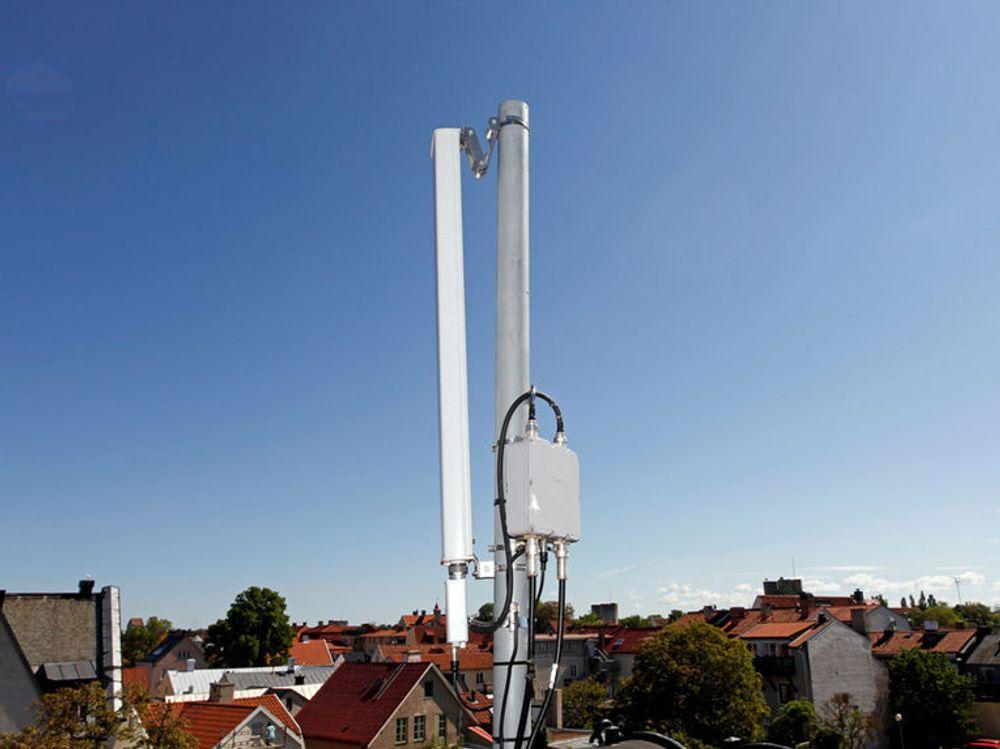 Ericsson LTE-utstyr, et sted i Sverige.