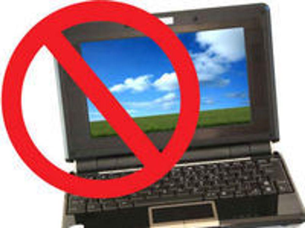 - Laptop er forbudt