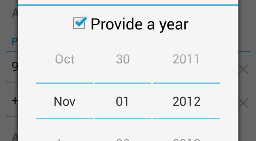 Feilen i kontaktapplikasjonen i Android 4.2 gjør det umulig å velge riktig fødselsdag for kontakter som er født i desember.