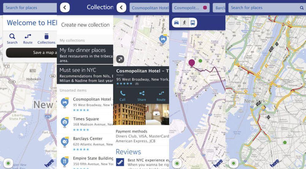Kartapplikasjonen Nokia Here for iOS ser ikke ut til å kunne gi iOS 6-brukere noen nevneverdig bedre og gratis kartløsning.
