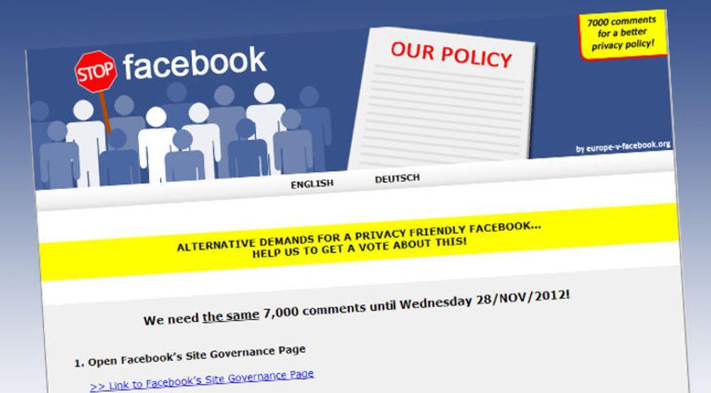 Den østerrikske jusstudenten Max Schrems har lansert en ny kampanje mot Facebook, for å tvinge gjennom en avstemning om de foreslåtte endringene.