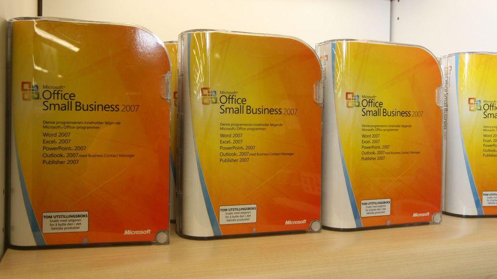 Microsoft Office dominerer fortsatt.