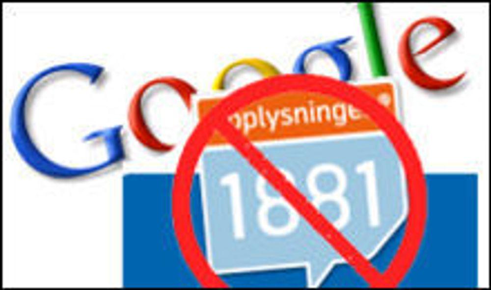 1881 er kastet ut av Google