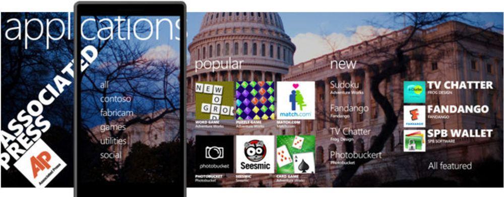 WP7 Marketplace blir en visuell opplevelse, i langt større grad enn det rivaler som Android Market eller App Store tilbyr i dag.