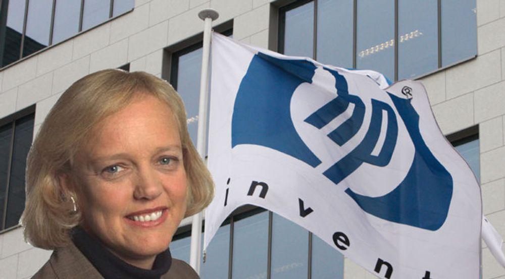 Ifølge HP-sjef Meg Whitman er pc-avdelingen ikke bare verdifull i seg selv, den bidrar også vesentlig til lønnsomheten i HPs øvrige virksomhet. (bakgrunnsbilde: Reuters)