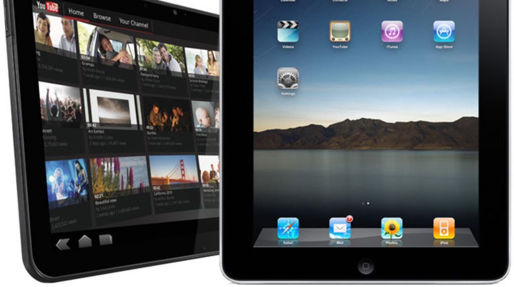 Android og iOS brukes av til sammen 93,5 prosent av nettbrettene som ble solgt i tredje kvartal i år. Her representert ved Motorola Xoom og Apple iPad.