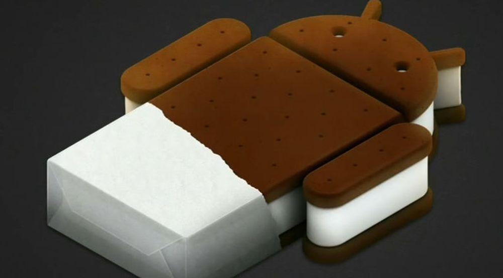 Ice Cream Sandwich er den aller nyeste utgaven av Android.