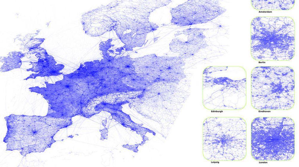 GPS-brukere har delt billioner av veikoordinater