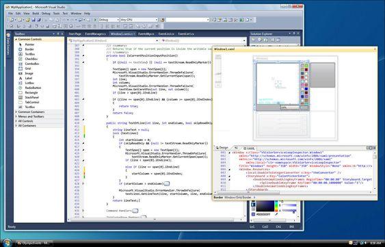 Det nye redigeringsverktøyet i Visual Studio 2010.