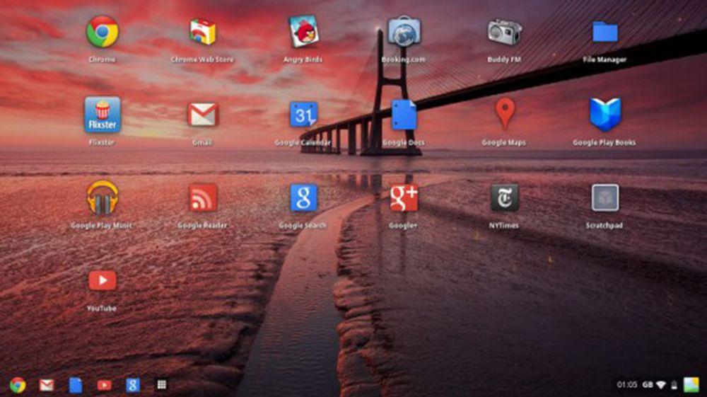 Chrome OS får et maskinvareaksesllerert vindussystem, med støtte for både overlappende vinduer og bakgrunnsbilder.