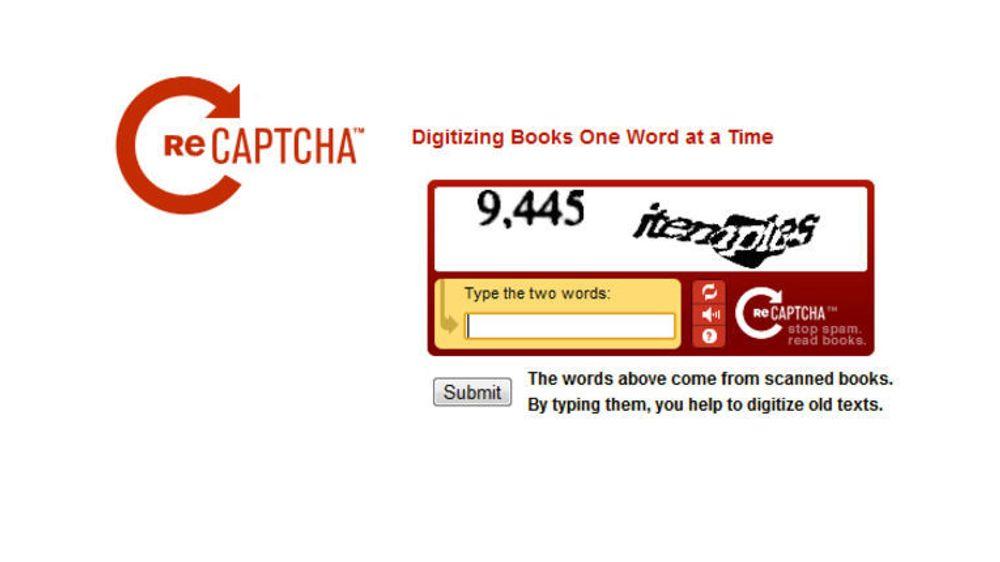 Googles reCAPTCHA ber vanligvis brukerne tolke ord fra bøker og tidsskrifter, men nå eksperimenterer selskapet også med gateskilt og husnummer.
