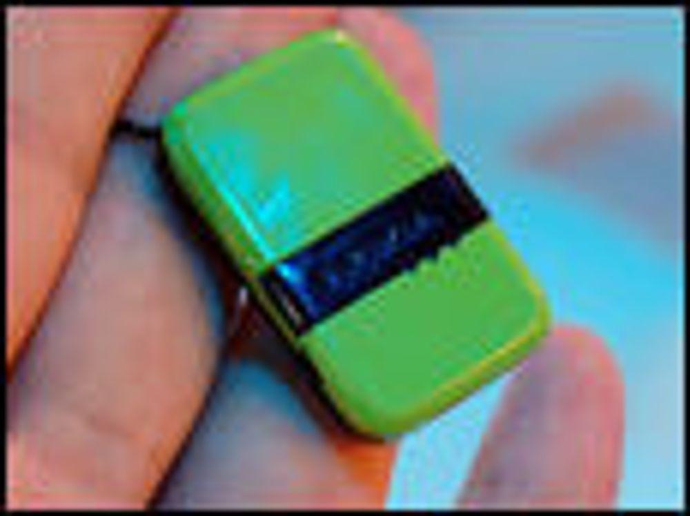 Denne vesle enheten kan festes til nøkler, kofferter, kameraet eller andre gjenstander du legger fra deg. Foto: Electricpig
