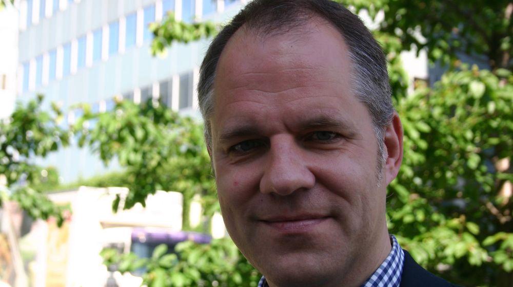 Markedsdirektør Edgar Valdmanis er spent på hvordan finansuroen vil påvirke deltakerandelen på Software 2009. FOTO: Britt Wang/Dataforeningen
