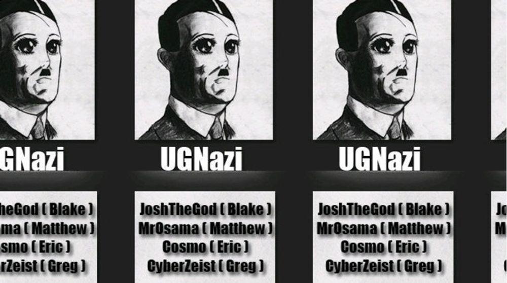 Faksimile av Twitter-siden til UG Nazi, hvor dømte 15-åringen var blant de sentrale medlemmene.
