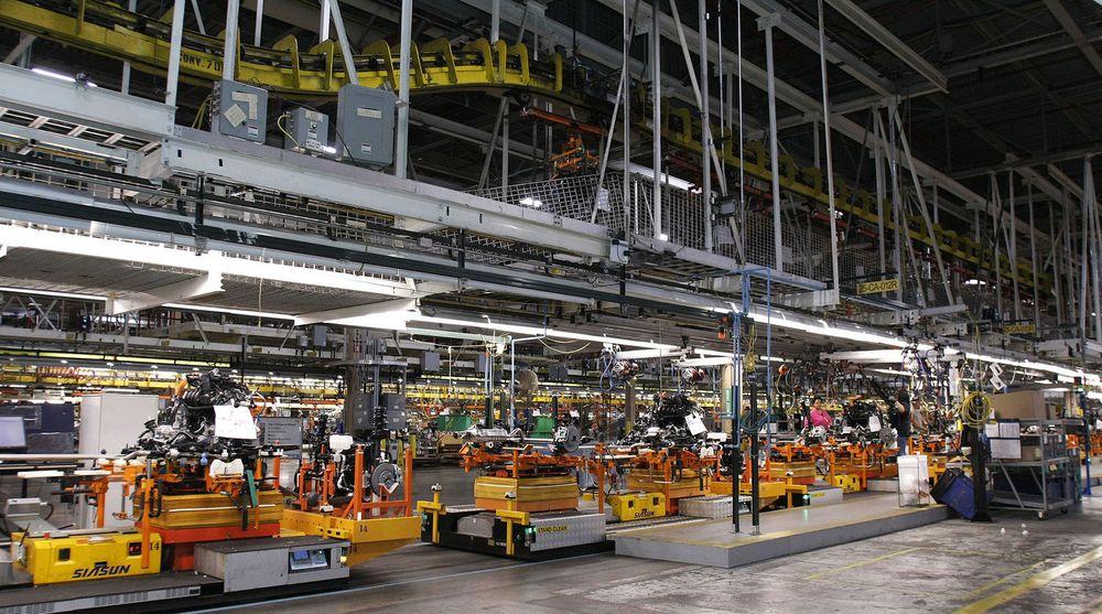 Fra produksjonsanlegget til General Motors i Hamtranck utenfor Detroit. Bilprodusenten har tenkt å ta over det meste av sin egen IT. Det kan bety 600 millioner dollar i tapt årsomsetning for HP.
