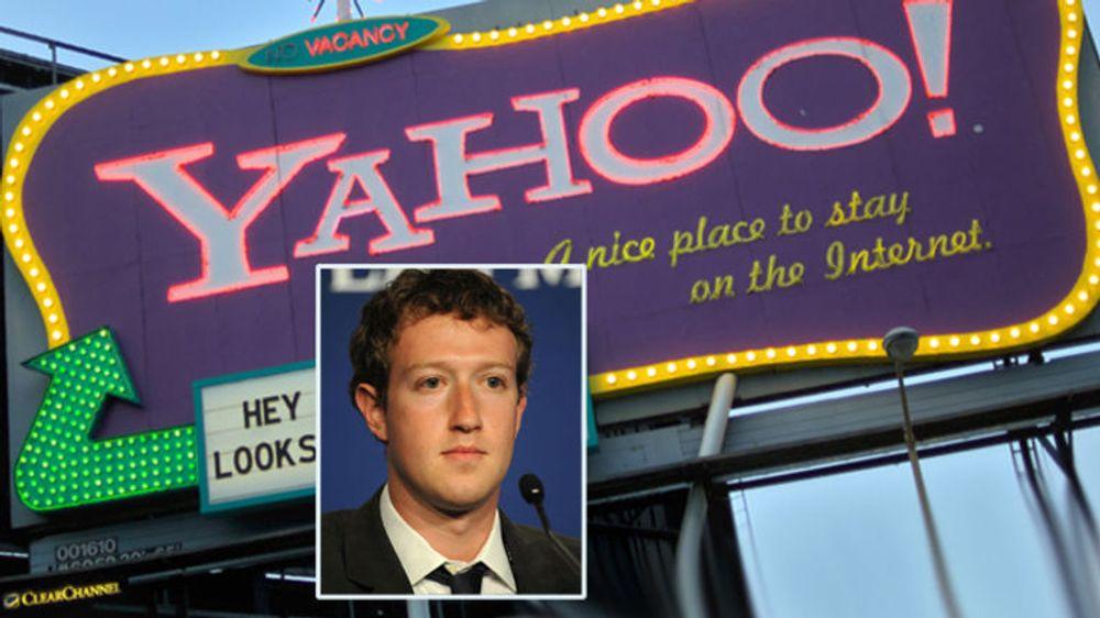 Facebook og Yahoo bilegger striden om en rekke patenter. Istedet for å sloss i retten skal de samarbeide om kundene, skriver de to selskapene i en pressemelding.