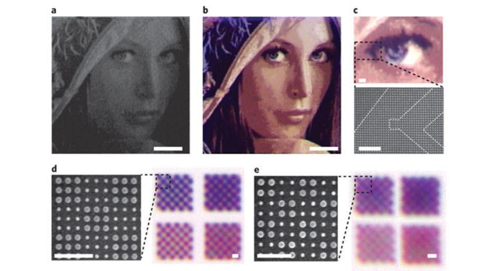 Dette er en forstørret utgave av bildet forskerne har skrevet ut, som opprinnelig måler 50x50 mikrometer (μm).