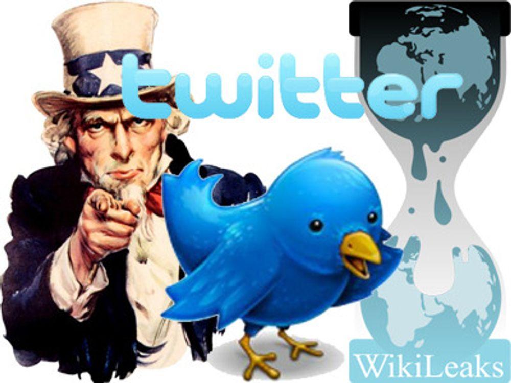 Twitter må oppgi informasjon om Wikileaks
