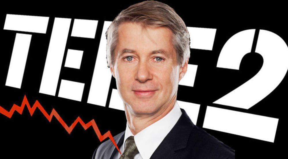 Lønnsomheten faller og det gjør aksjekursen også. Avbildet er Tele2s konsernsjef Mats Granryd.