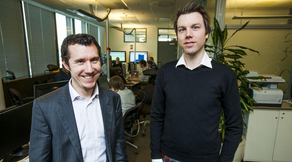 Thomas Mathisen og Martin Bekkelund legger ikke skjul på at ambisjonene til Digipost er å bli den dominerende tilbyderen av digital postkasse i Norge.
