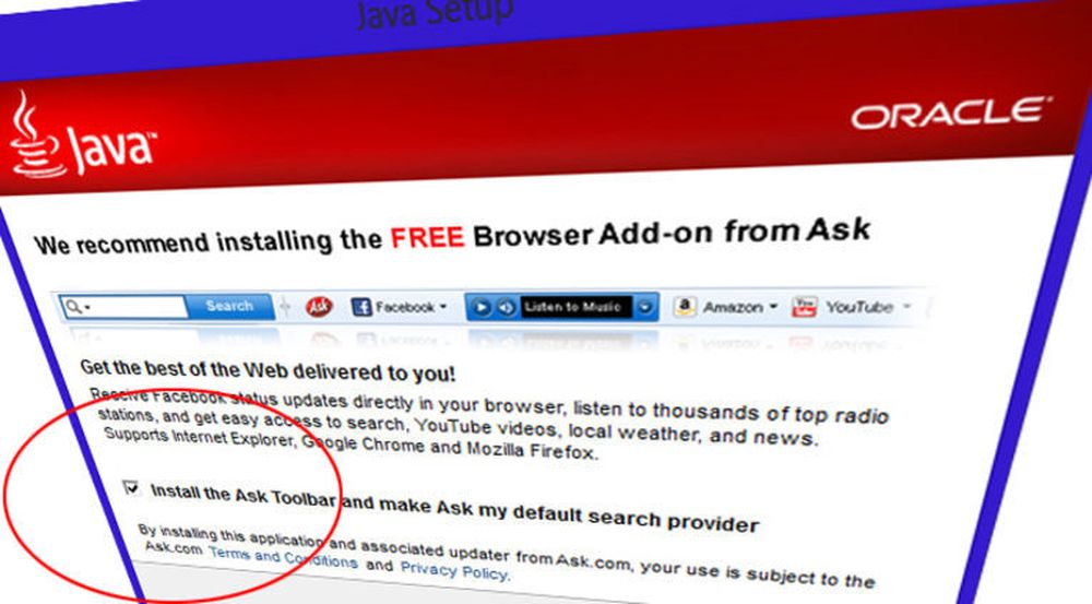 Oracle skal ikke lenger tjene penger på å narre Java-brukere til å installere Ask.com-verktøylinjen. I stedet skal de som installerer Java narres til bruke Yahoo som søkemotor i nettleseren.