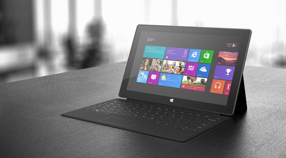Knapp plass: Surface RT blir norgeslansert 14. februar. Det er ennå uvisst når Surface Pro selges her til lands.