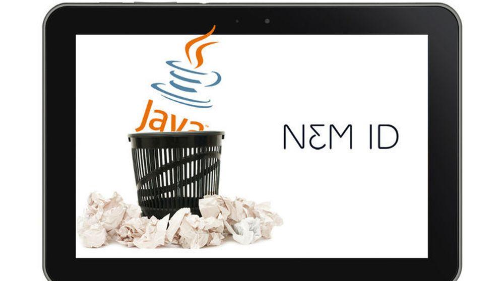 Danske NemID, som i Danmark har omtrent samme rolle som det BankID har i Norge, skal i framtiden baseres på noe annet enn Java, blant annet for å dekke behovet til nettleserbrukere.