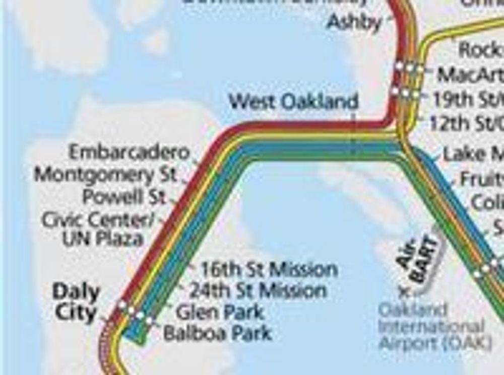 Bay Area Rapid Transfer (BART) binder sammen alle de store tettstedene i og rundt San Francisco og Oakland.
