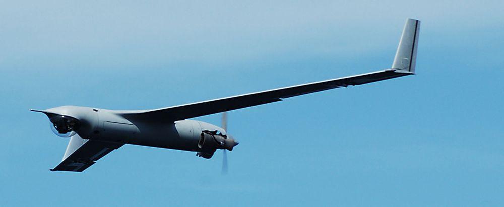 Det ubemannede militære flyet Insitu Scan Eagle kan holde seg i lufta i 24 timer, og brukes av Pentagon i Irak og Afghanistan. Selskapet bekrefter at det først nå er i ferd med å sørge for at videooverføringen kan krypteres.