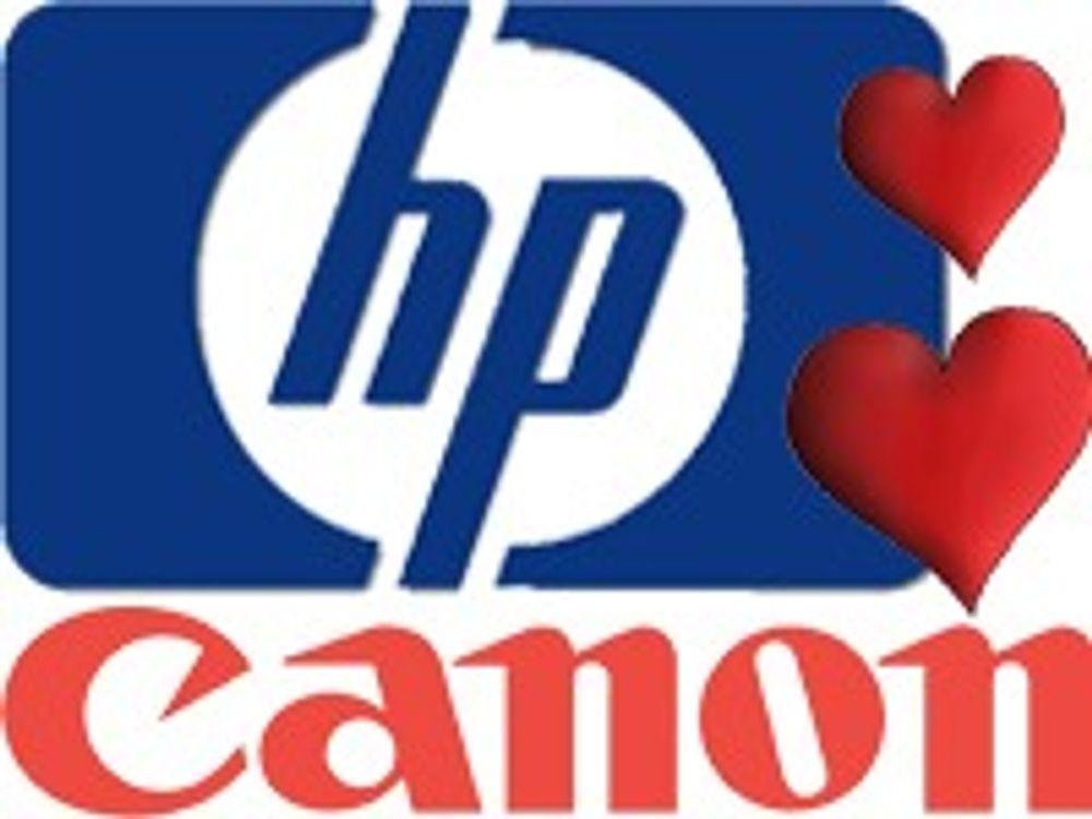 HP og Canon sammen om skrivertjenester
