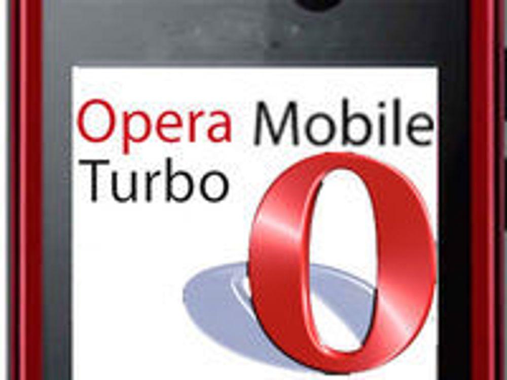 Opera Turbo på plass i ny mobilnettleser