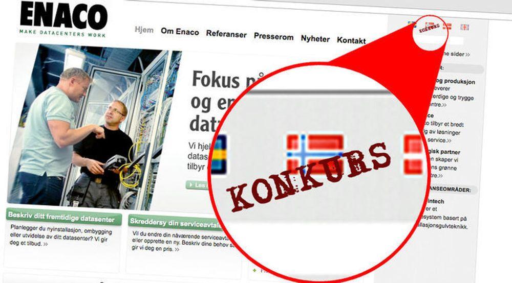 Enacos norske virksomhet gikk torsdag konkurs. Årsaken er  enda ikke kjent, men selskapet hadde svært høy gjeld.