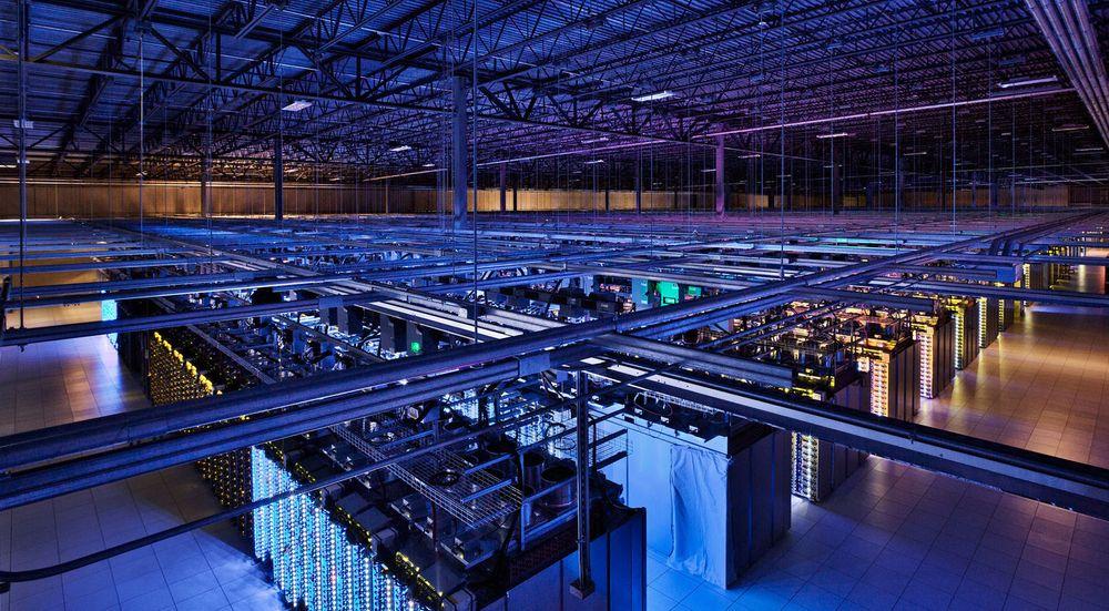 Googles datasenter i Council Bluffs, Iowa, er på mer enn 10,6 mål.