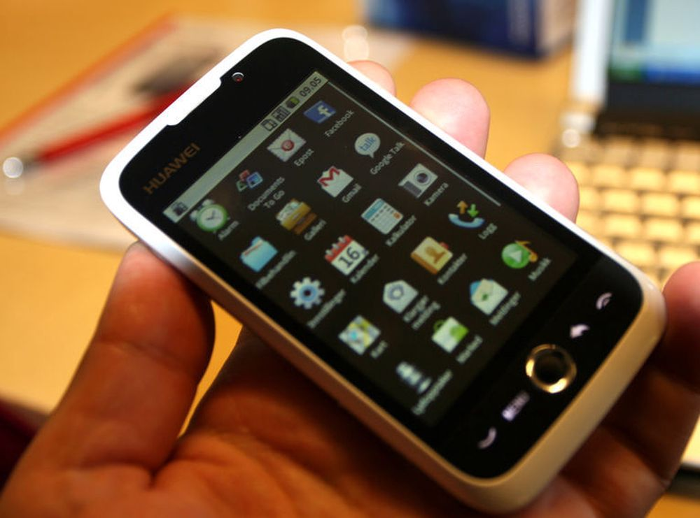 Android er på kort tid blitt svært utbredt også i Kina, der flere lokale leverandører satser på plattformen. Dette er en Huawei U8230, med Android.