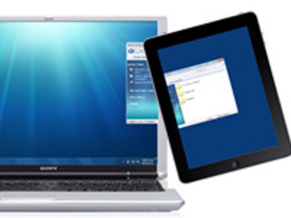 Gjør iPad til trådløs PC-skjerm