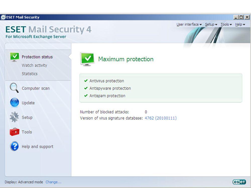Det er i hovedsak antispamfunksjonenesom er utbedret i den nye utgaven av ESET Mail Security.